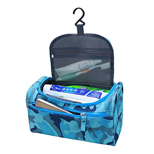 Pro-traveller Hanging Toiletry Bag Travel Case for Man or Woman with Hanging Hook Organizer Accessories Organizer Accessories, Shampoo, Cosmetic, Personal Items, Healthcare Bag (Camouflage)