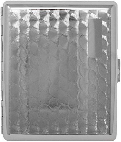(Silver Swirls (Full Pack 100s) Metal-Plated Cigarette Case & Stash Box)
