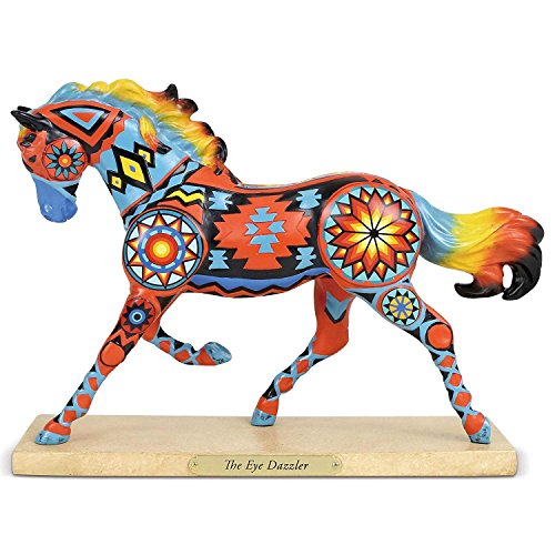"""Resin Painted (Enesco Trail of Painted Ponies """"the Eye Dazzler"""" Stone Resin Figurine, 6.5"""", 6.5 Inches, Multicolor)"""