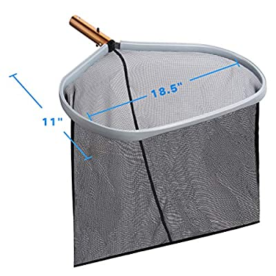 NPLUX Swimming Pool Net, Pool Skimmer Net, 2 Pack Heavy Duty Swimming Pool Leaf Net Skimmer Rake with Medium Fine Mesh for Cleaning Swimming, Spa, Fountain, Black : Garden & Outdoor