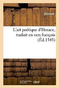 L'art poétique d'Horace par  Horace