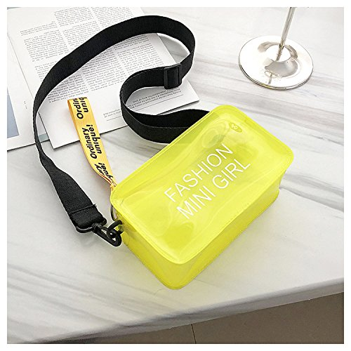 NFL Transparent Messenger Purse Adjustable Crossbody Bag Shoulder With Yellow Approved Clear Strap Stadium BCRqw0n
