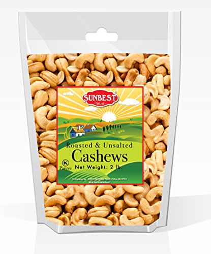 SUNBEST Cashews Roasted Unsalted Resealable product image