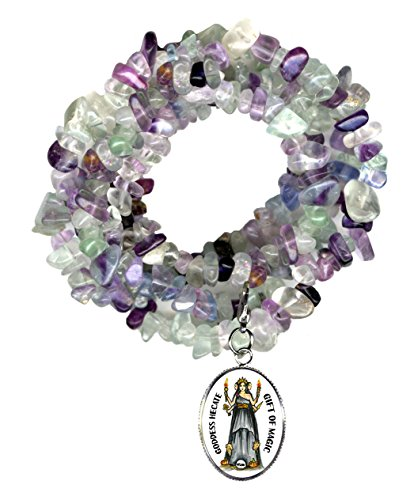 Goddess Hecate Gift of Magic & Miracles Charm Clip Fluorite Gem Wrap Bracelet or (Hecate Costume)