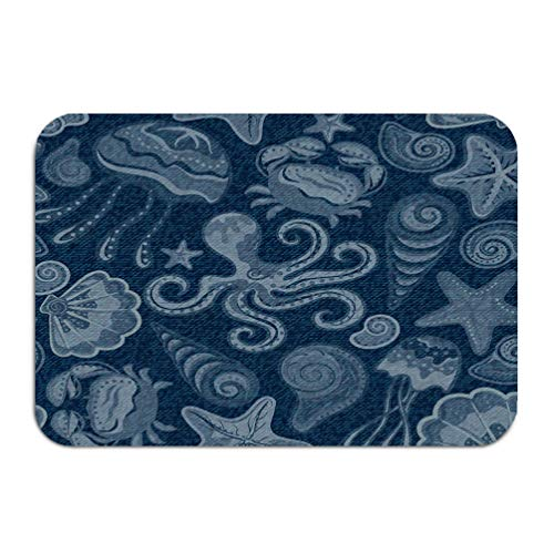 zexuandiy Washable Fabric Placemats for Dining Room Kitchen Table Decor 23.6 W X 15.7 W Inches Denim Jeans Background Butterflies Blue Jeans Clot