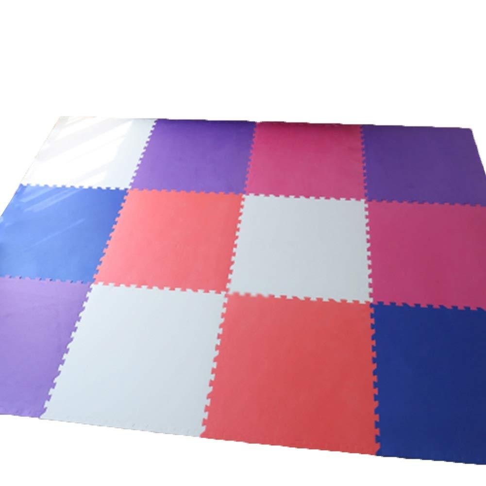 HLMIN 多色の組み合わせ ベビープレイマット 連動フロアタイル 滑り止めソフトXPEフォーム 無毒 (サイズ さいず : 12p) 12p  B07RB5TB2F