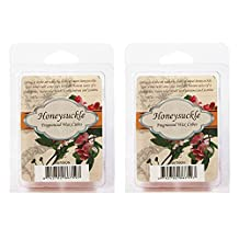 Hosley's Set of 2 Honeysuckle Scented Wax Cubes / Melts - 2.5 oz each. Hand poured wax infused with essential oils.. Ideal GIFT for weddings, spa, Reiki, Meditation settings