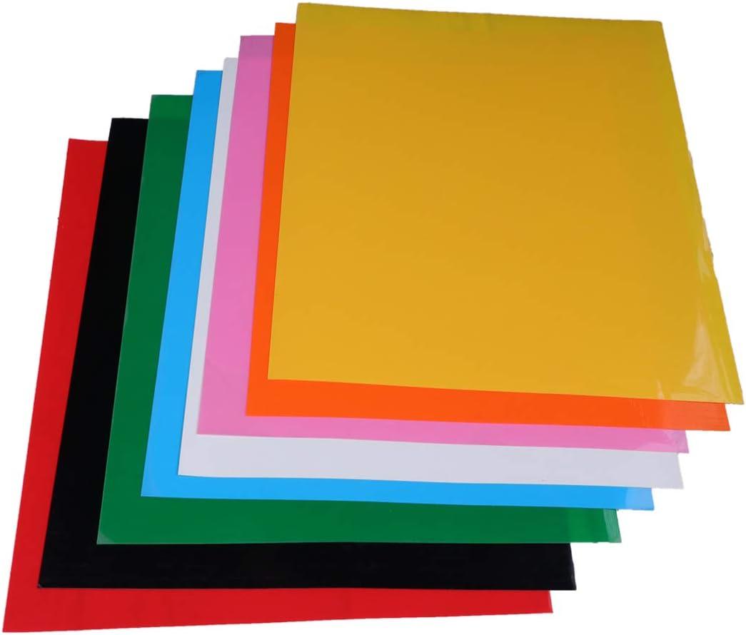 Supvox Vinilo de transferencia de calor colorido de 12 piezas para ...