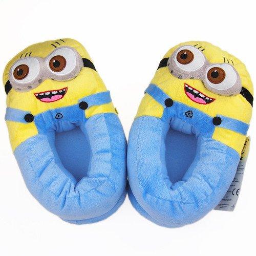 Despicable Me Plush Stuffed Two Eye Doll Soft Toy Figure Minion Slipper -