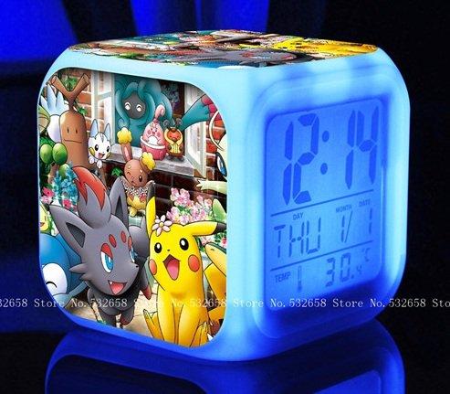 POKEMON PIKACHU Cartoon Games Action Figure 7 Colors Chan...