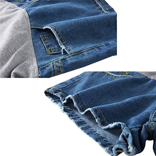 lastique Femme Maternit Mode de soutien Jeans Denim Deylaying ventre Style14 Neuf Shorts tq0OE