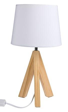 Out of the Blue 571285, lámpara de mesa con pies de madera modelo ...
