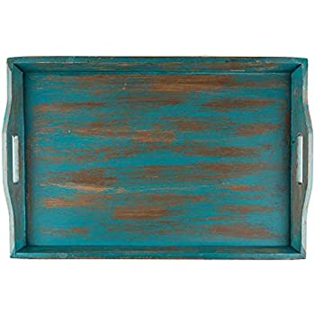 Amazon Com Xxl Large Wooden Serving Tray Distressed