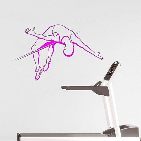 Ajcwhml High Jump Gym Pegatinas de Pared Fitness Art Apliques de ...