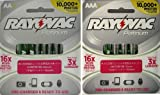 Rayovac Platinum Pre-Charged NiMH AA AAA Battery Combo Deal 4 x AA 4 x AAA, Appliances for Home