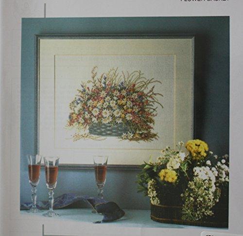 - Flower Basket, Permin of Copenhagen Cross Stitch Chart Danish Art Needlework