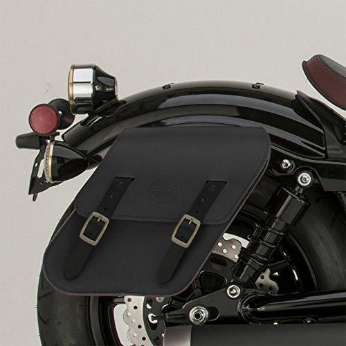 (Genuine Yamaha Accessories 14-18 Yamaha Bolt Rigid-Mount Leather Saddlebags (Black))
