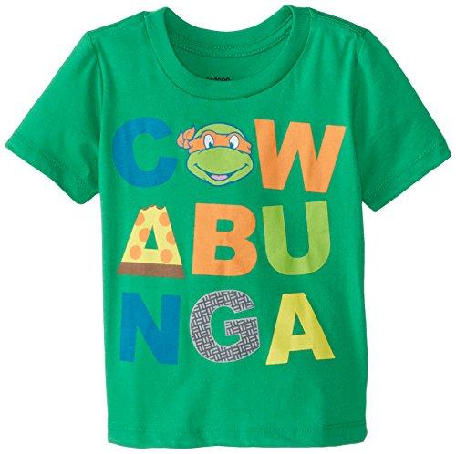 Teenage Mutant Ninja Turtles Little Boys' Toddler Cowanbunga T-Shirt, Green, 2T Ninja Green T-shirt