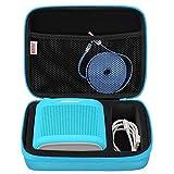 BOVKE Speaker Case for Soundlink Color II Wireless Speaker Hard EVA Shockproof Carrying Case Storage Travel Case Bag Protective Pouch Box, Aquatic Blue