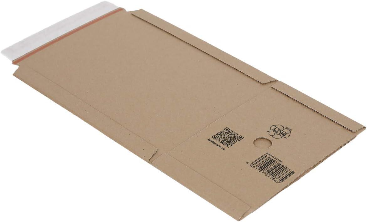 80 Buchverpackungen DIN A5 w/ählbar zwischen 40-1760 Versandtaschen Buch Wickelverpackungen mit Selbstklebeverschluss