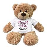 Flower Girl Teddy Bear - Personalized 13 inch Bonny Bear