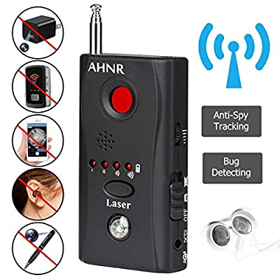 RF Bug Detector, Anti Spy Hidden Camera Detector, AHNR Wireless Signal Pinhole Laser Lens GSM Detector Ultra-high Sensitivity Full-Range Tracker Finder from AHNR