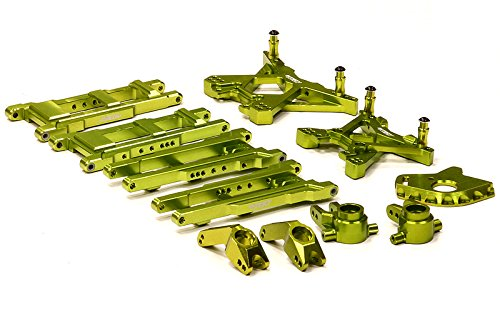 ups T8580GREEN Billet Machined Suspension Set for 1/10 Stampede 4X4 & Slash 4X4 (non-LCG) (Alloy Suspension Set)