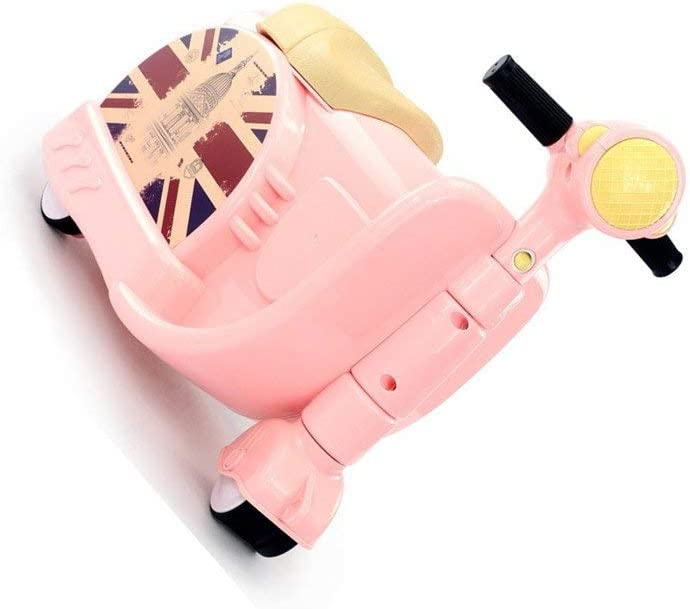 Color : Red child convenient luggage Motorcycle Suitcase Two-in-one Suitcase Can Ride Male and Female Baby Trolley Case Travel -Pink