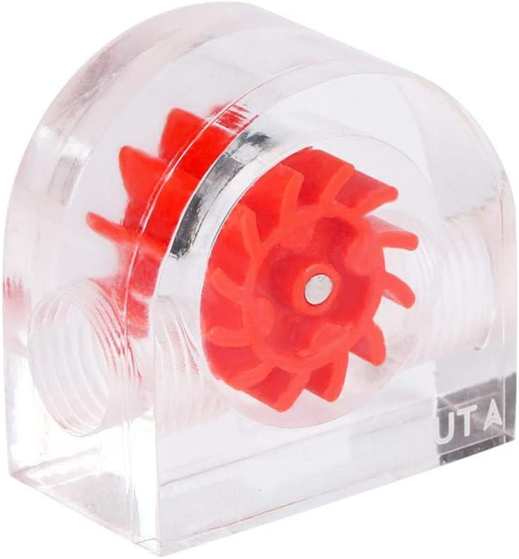 12 Impellers Flow Meter Indicator Water Cooling Systems for PC/Water Cooling System G1 / 4 Semicircle Thread(Red)