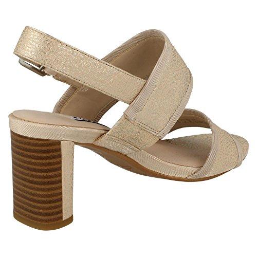 Clarks Damen High Heel Anlass tragen Sandalen Amali Ava champagnerfarben