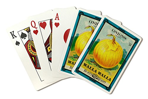 Walla Walla - Onion Seed Packet (Playing Card Deck - 52 Card Poker Size with Jokers)