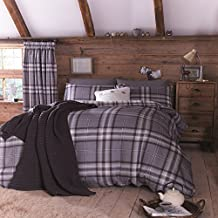 Catherine Lansfield Kelso Cotton Bed Linen Set, Double Size, Charcoal, French-Style by Catherine Lansfield