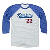 500 LEVEL Clayton Kershaw Baseball Tee Shirt - Los Angeles Baseball Raglan Shirt - Clayton Kershaw Script