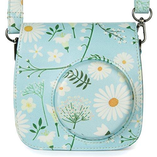 Fujiflim Instax crisantemo in per Borsa PU con pelle tracolla borsa Flylther mini Flylther fotocamera 1x7FPpwqp