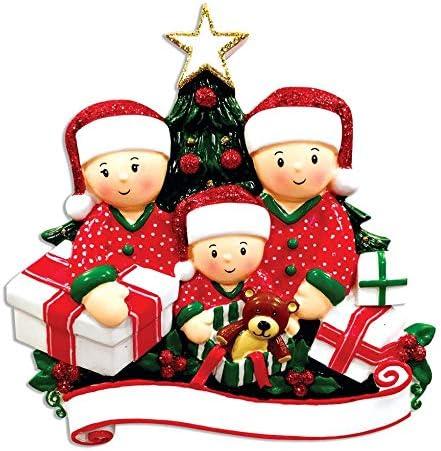 Christmas Morning Presents Opening 2020 Amazon.com: Personalized Family of 3 Opening Presents Christmas