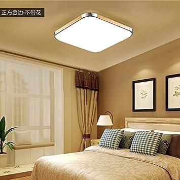 led - deckenleuchte rechteckige wohnzimmer licht einfach moderne ...