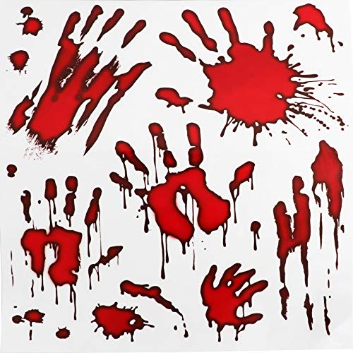 Ru Ye Halloween Decoration Bloody Handprint Window Floor Clings Halloween Vampire Zombie Party Decorations Decals Stickers Supplies 3 -
