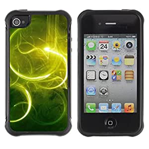 Pulsar Defender Series Tpu silicona Carcasa Funda Case para Apple iPhone 4 / iPhone 4S , Nature Beautiful Forrest Green 59