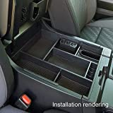 JDMCAR for 2014-2019 Toyota Tundra - Center Console Organizer Insert ABS Black Materials Tray - Armrest Secondary Storage Box - Full Tray
