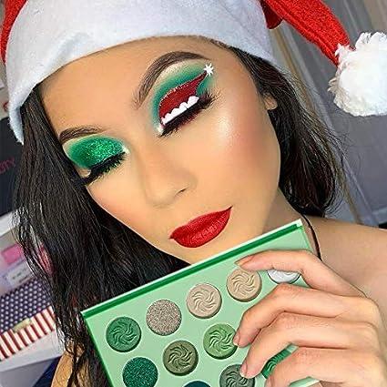 De Lanci Avocado Green Eyeshadow Palette 15 Color Bright Eye Shadow Christmas Makeup Pallete Matte Shimmer Glitter Highly Pigmented Vegan Eye Shadow Powder Long Lasting Cosmetic Amazon Co Uk Beauty