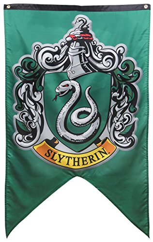 Calhoun Harry Potter Hogwarts House Wall Banner (30'' by 50'') (Slytherin) by Calhoun
