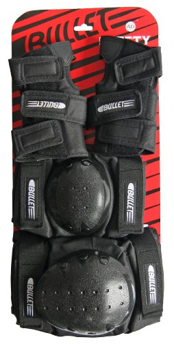 Bullet Safety Gear Set, Black, (Bullet Roller Skate)