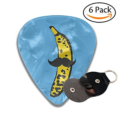 Huahikj23 Guitar Pick (full) Moustache Banana Rich Fashion Patterns And Thicknesses.As A Convenience, A Thickness Of 6 Pieces For Sale.]()