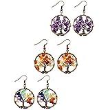 Best Hope Tree Wedding Ring Sets - MOWOM 3 Pairs Multicolor Copper Dangle Hook Earrings Review