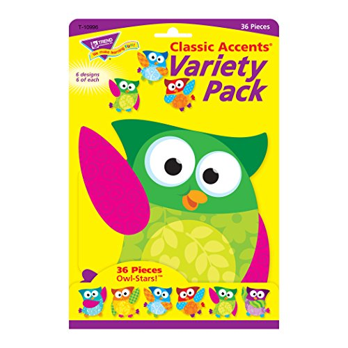 Trend Enterprises Owl-Stars! Classic Accents Variety Pack, 36 per Package (T-10996) Photo #3