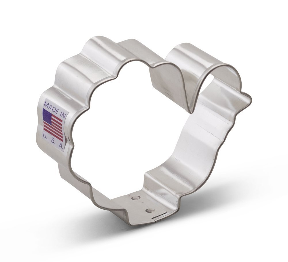 Ann Clark Turkey Cookie Cutter - 3.25 Inches - Tin Plated Steel