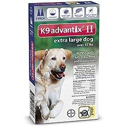 Advantix II Extra Large Dogs Over 55 lbs Flea and Tick 2 Month by K9 Advantix II