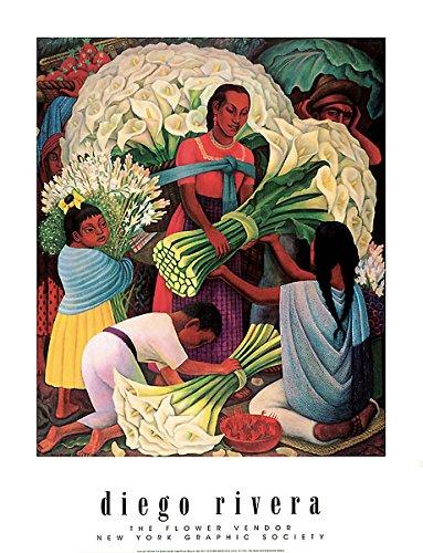 The Flower Vendor Diego Rivera Art Print Poster 16x20