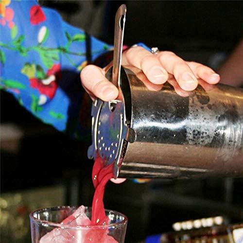 OHOME Tragbare Edelstahl Cocktail Shaker Bar Eissieb Barkeeper Getränkefilter Abdeckung Deckel Bar Werkzeuge Wein Zubehör
