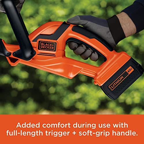 BLACK+DECKER 40V MAX Cordless Hedge Trimmer, 24-Inch (LHT2436)